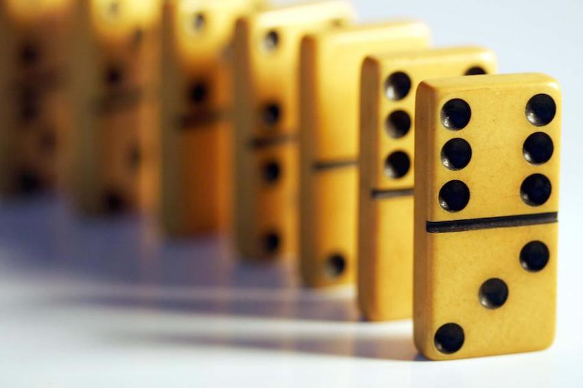 Property Chain Collapse image of dominoes -Molae Properties