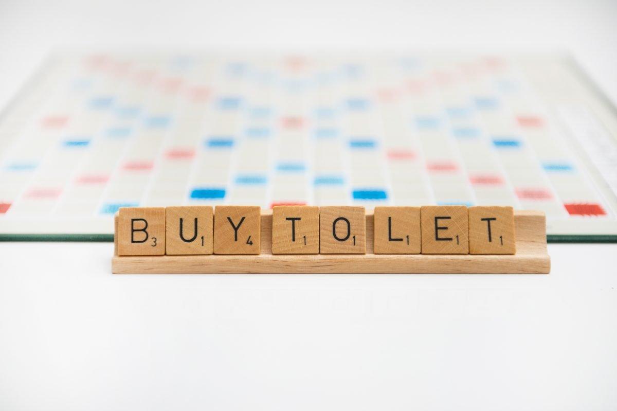 Buy to let written using scrabble letters